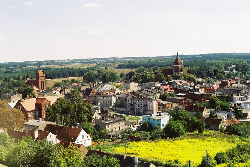 Golub - Dobrzyń.Widok na Golub i Białkowo - fot.A.Hermann
