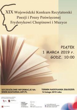 XIX Wojewódzki Konkurs Recytatorski